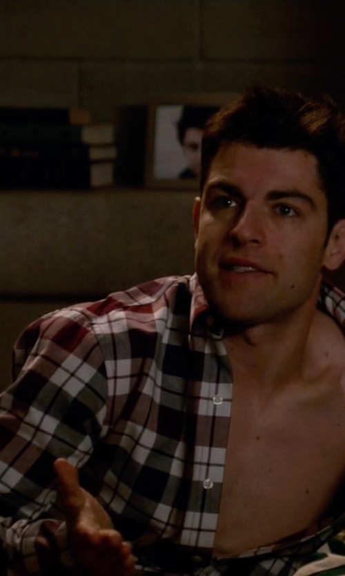Max Greenfield with Brooks Brothers Madison Fit Plaid Sport Shirt in New Girl