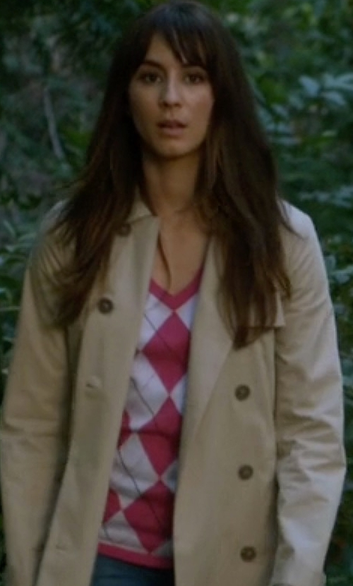Troian Bellisario with Tommy Hilfiger Classic Argyle Sweater in Pretty Little Liars