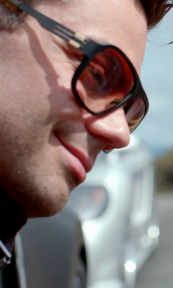 Dominic Cooper with iC! Berlin Power Law in Rough Black Sunglasses in Need for Speed