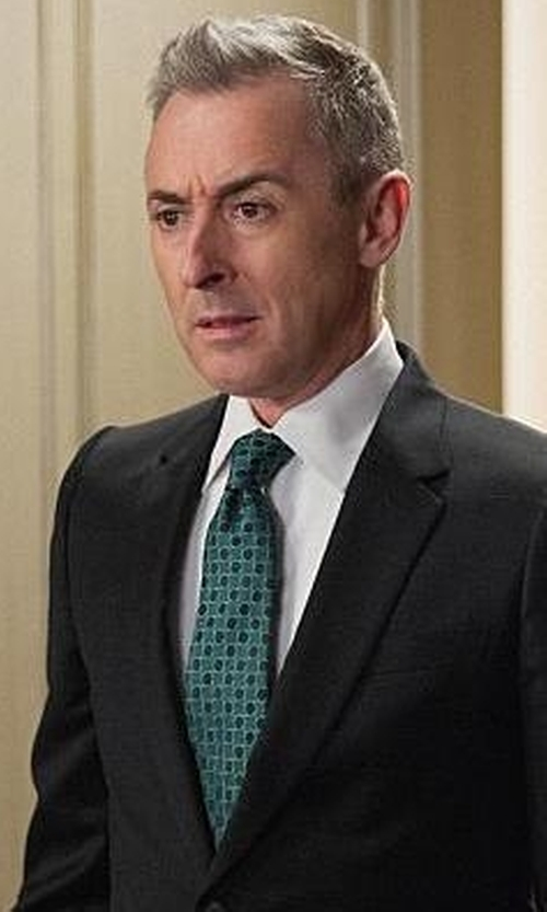 Alan Cumming with Ted Baker London Geometric Woven Silk Tie in The Good Wife