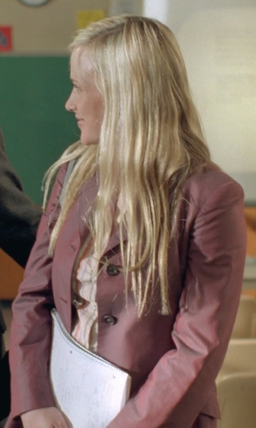 Patricia Arquette with Larry Levine Classic Single-Breasted Notch-Collar Coat in Boyhood