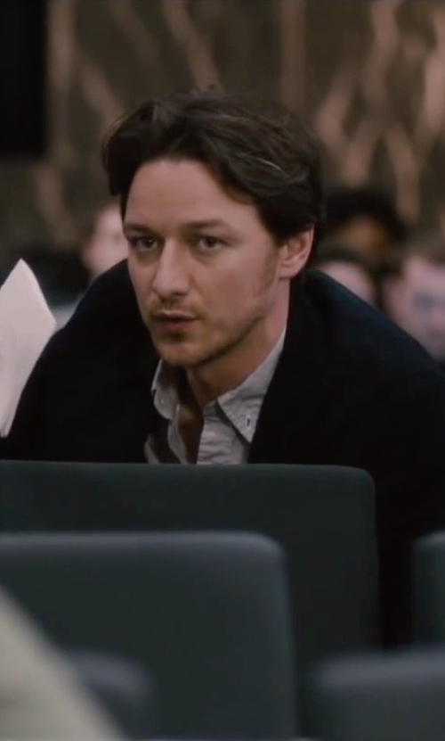 James McAvoy with Deus Ex Machina Mixed Lollies Shirt in The Disappearance of Eleanor Rigby