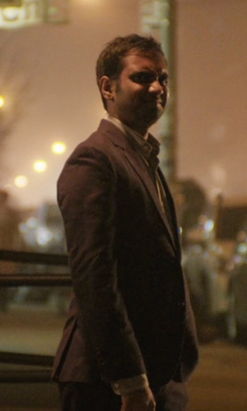 Aziz Ansari with DKNY Stretch One-Button Suit in Master of None