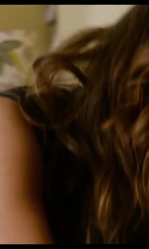 Nina Dobrev with Vince Drape Hem Tank Top in Let's Be Cops