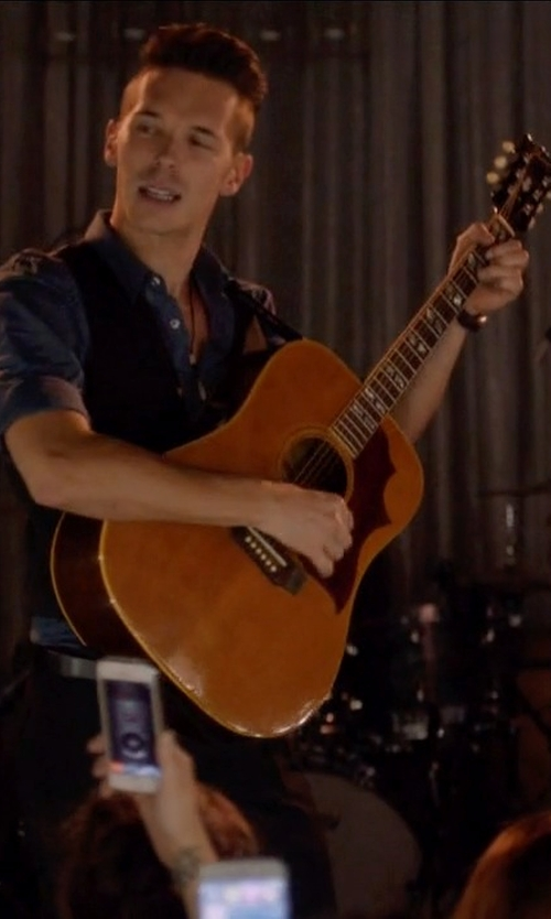 Sam Palladio with Fender Tim Armstrong Hellcat Acoustic-Electric Guitar in Nashville
