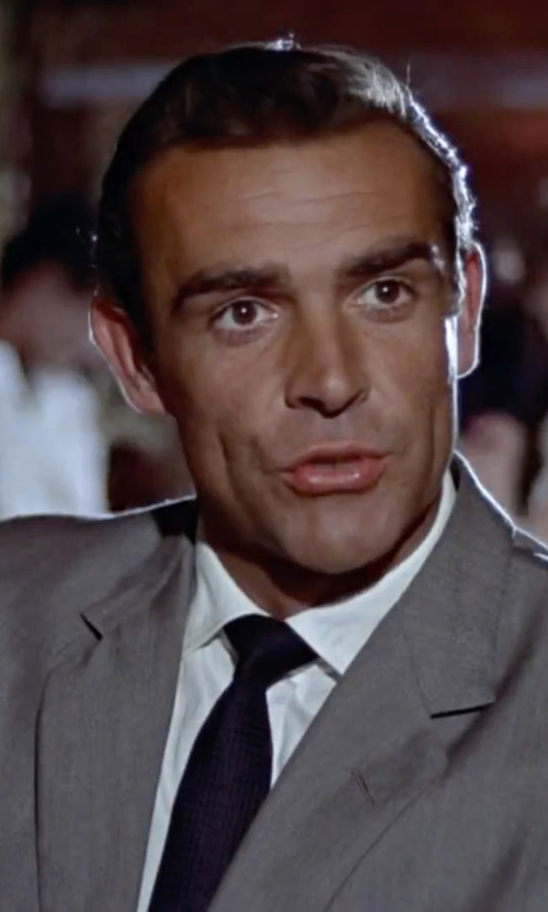 Sean Connery with DKNY Extra Slim Fit Suit in Dr. No