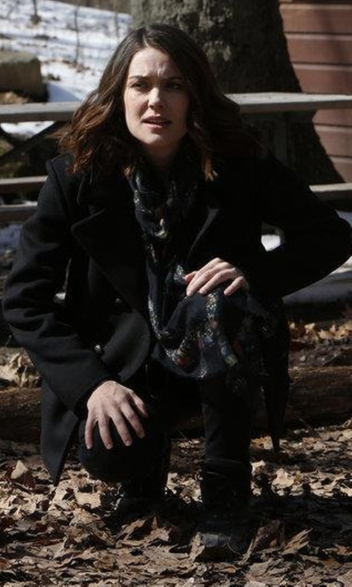 Megan Boone with Getting Back to Squar Eone The Coat in The Blacklist