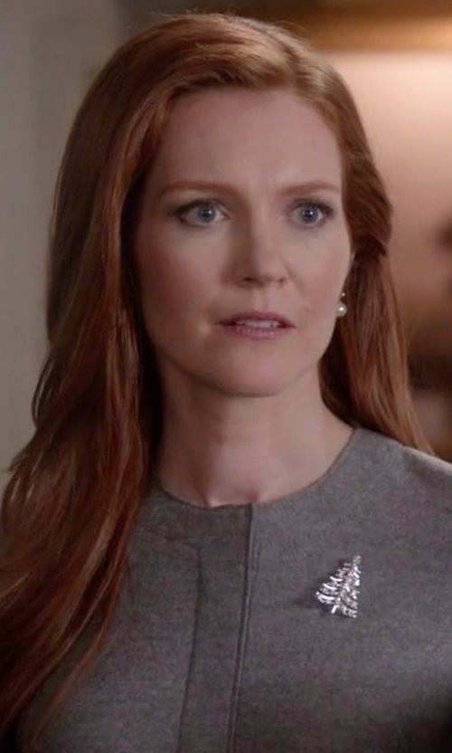 Darby Stanchfield with R.J. Graziano  Crystal Tree Brooch in Scandal