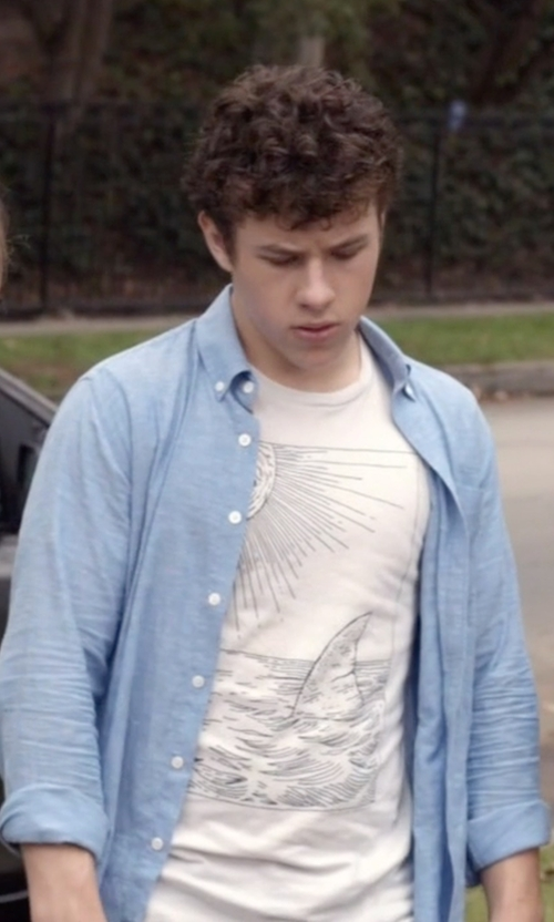 Nolan Gould with Hurley Ace 2.0 Long-Sleeve Solid Shirt in Modern Family