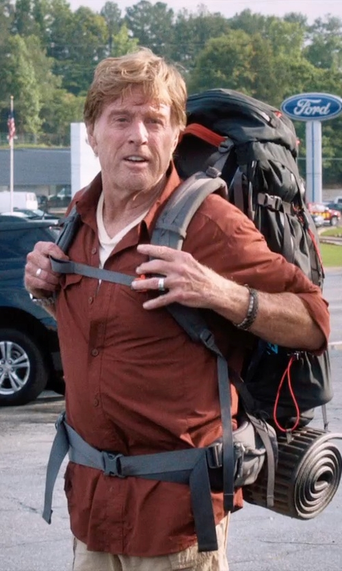 "Robert Redford with John Hardy ""Bedeg"" Silver Band Ring in A Walk in the Woods"