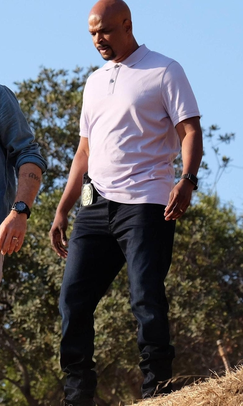 Damon Wayans with AG Adriano Goldschmied The Slim Khaki Pants in Lethal Weapon