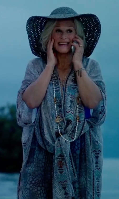 Glenn Close with Nanette Lepore Seaside Tile Caftan in Bastards
