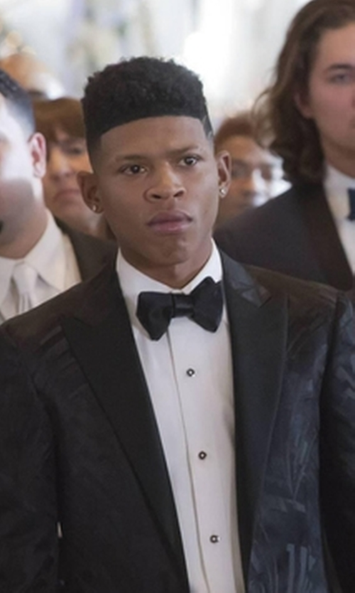Bryshere Y. Gray with Neiman Marcus Satin Bow Tie in Empire