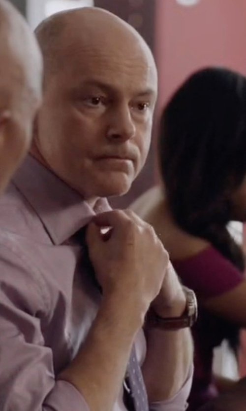 Rob Corddry with Emporio Armani  Stainless Steel Chronograph Watch in Ballers