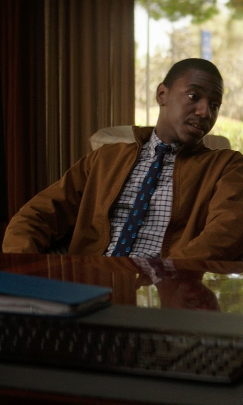Jerrod Carmichael with Weatherproof Garment Co. Men's Faux Suede Bomber Jacket in Neighbors