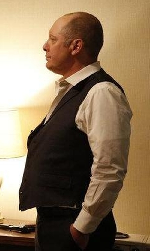 James Spader with Dolce & Gabbana Single Breasted Vest in The Blacklist