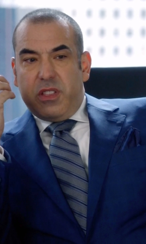 Rick Hoffman with Paul Smith Men's Plain Navy Silk Pocket Square in Suits
