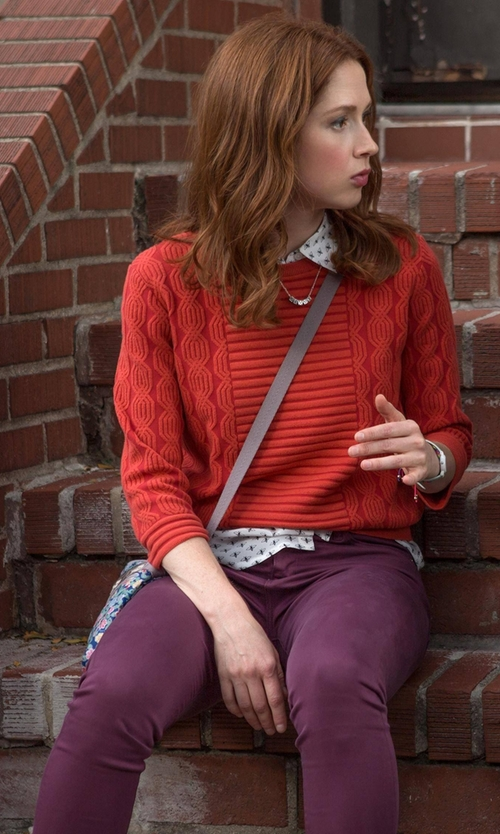 Ellie Kemper with Woolrich 1830 Denim Slim Fit Jeans in Unbreakable Kimmy Schmidt