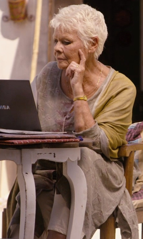 Judi Dench with Piazza Sempione Kim Flat-Front Ankle Pants in The Second Best Exotic Marigold Hotel
