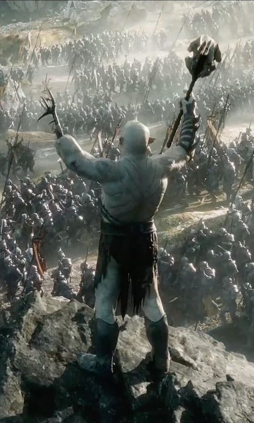 Manu Bennett with Weta Workshop & Weta Digital Azog in The Hobbit: The Battle of The Five Armies