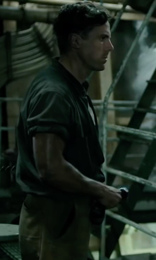 Casey Affleck with Sanforized Twill Uniform Pants in The Finest Hours
