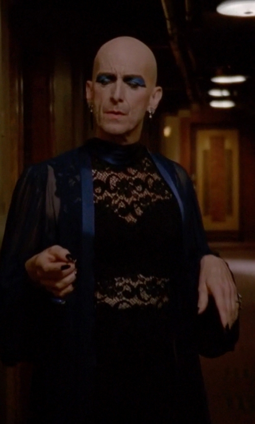 Denis O'Hare with Dylan Gray Knit and Lace Turtleneck Blouse in American Horror Story