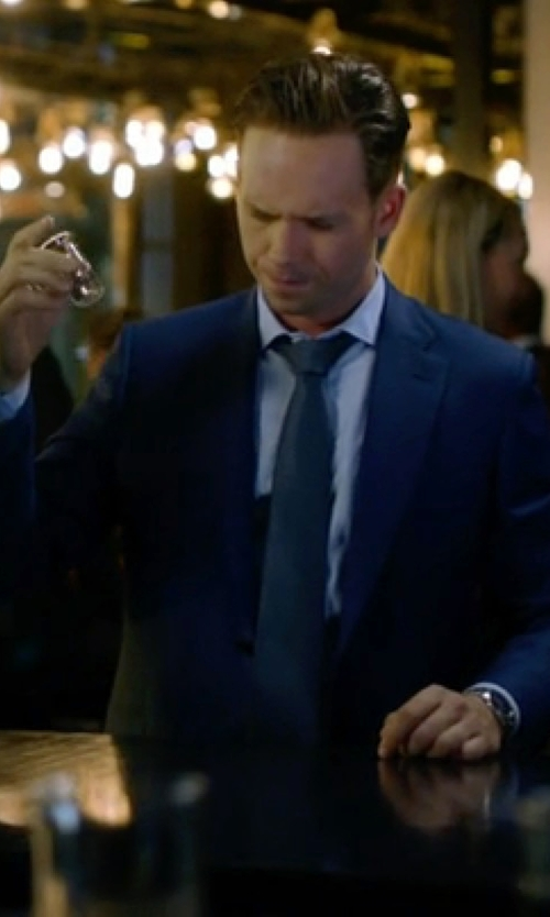 Patrick J. Adams with Citizen Eco-Drive Titanium Perpetual Chronograph Watch in Suits