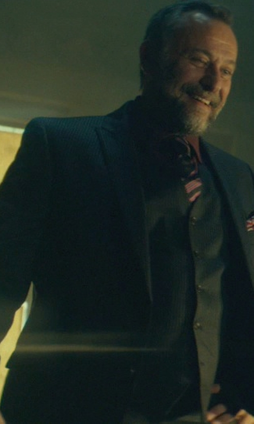 Michael Nyqvist with Renato Balestra Three Piece Suit in John Wick