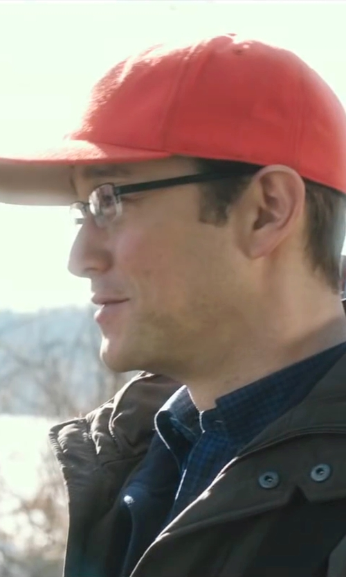 Joseph Gordon-Levitt with True Religion Brand Jeans Felt Patch Baseball Cap in Snowden