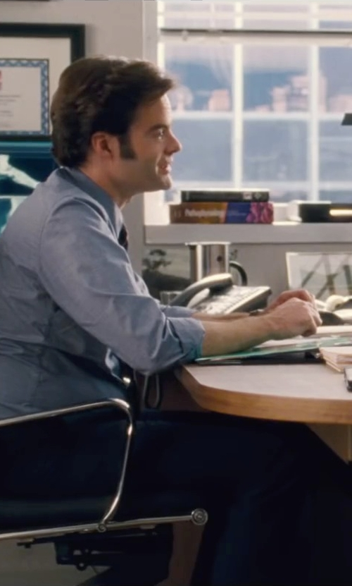 Bill Hader with Brooks Brothers Madison Fit Plain-Front Flannel Trousers in Trainwreck
