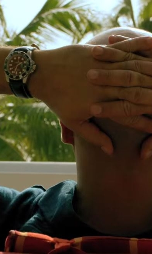 Billy Zane with Rolex Leather Submariner Watch in Mad Dogs