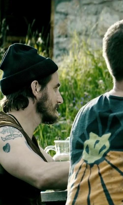 Clemens Schick with Love Moschino Beanie Hat in Point Break