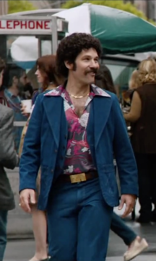 Paul Rudd with Dsquared2 Two-Tone Belt in Anchorman 2: The Legend Continues