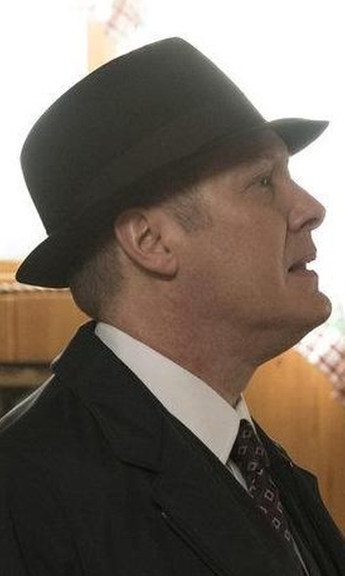James Spader with Borsalino Classic Fedora Hat in The Blacklist