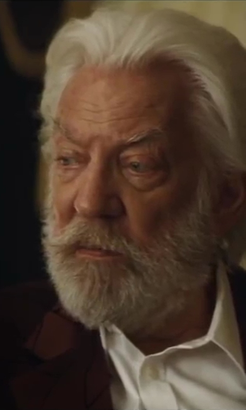 Donald Sutherland with Anto Beverly Hills Custom Made Dress Shirt in The Hunger Games: Catching Fire
