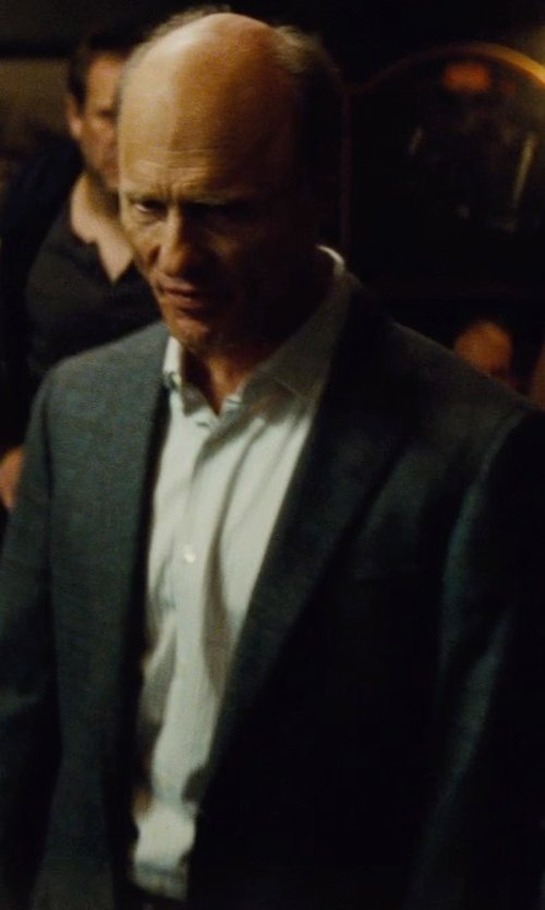 Ed Harris with David Donahue Trim Fit Dress Shirt in Run All Night