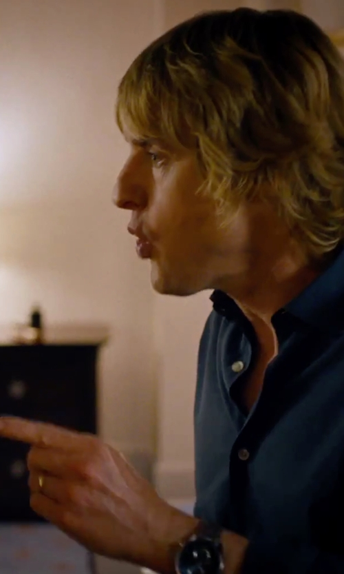 Owen Wilson with Fossil Men's Dean Silver-Tone Chronograph Watch in She's Funny That Way