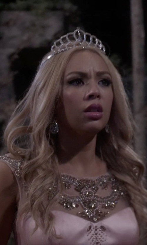 Janel Parrish with Bling Jewelry Kate Middleton Inspired Royal Bridal Tiara in Pretty Little Liars