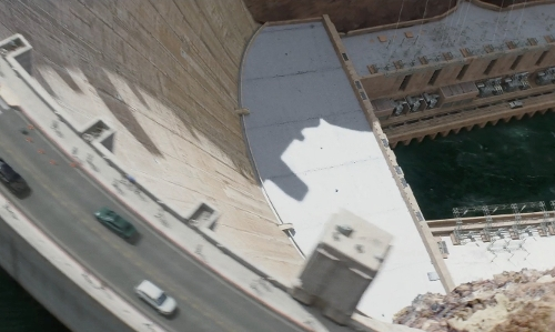 Unknown Actor with Hoover Dam Clark County, Nevada in San Andreas