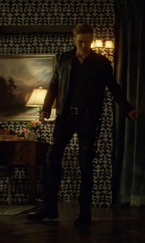 Dominic Sherwood with Broken Homme James Boots in Shadowhunters