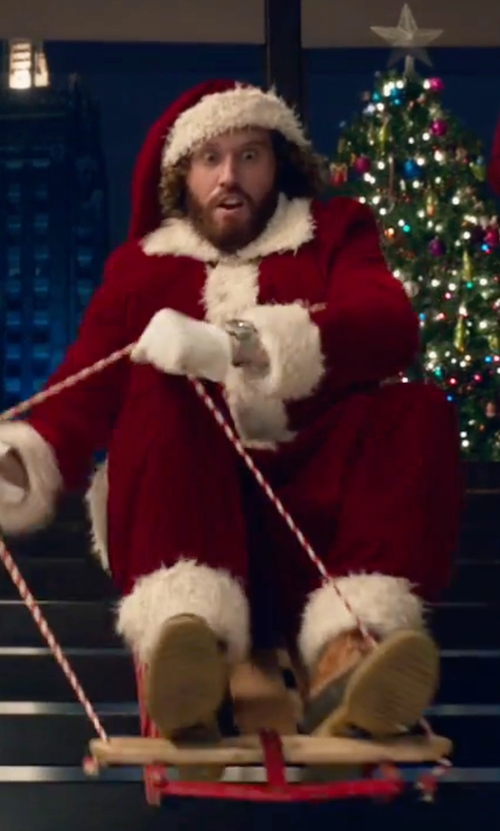T.J. Miller with Rubie's Flannel Santa Suit in Office Christmas Party