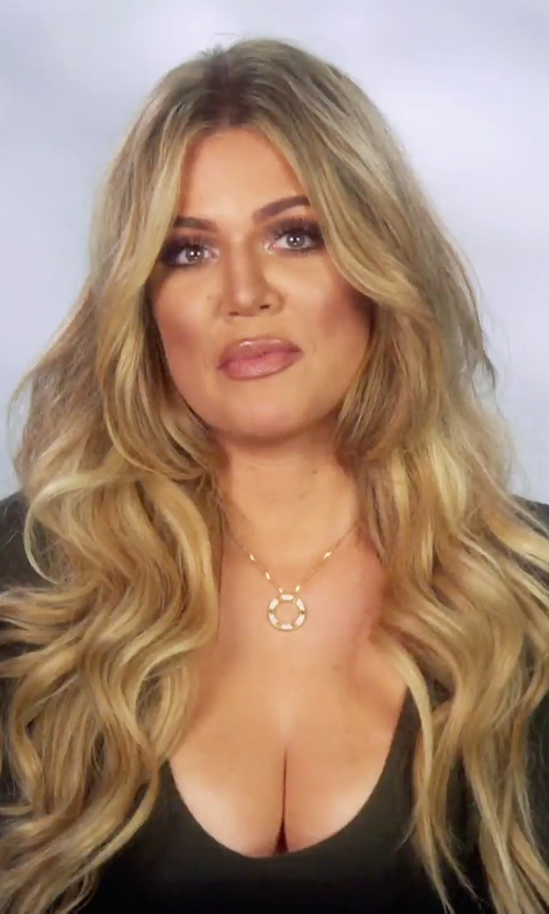 Khloe Kardashian with Splendid Light Jersey Long Sleeve Scoop Neck Tee in Keeping Up With The Kardashians