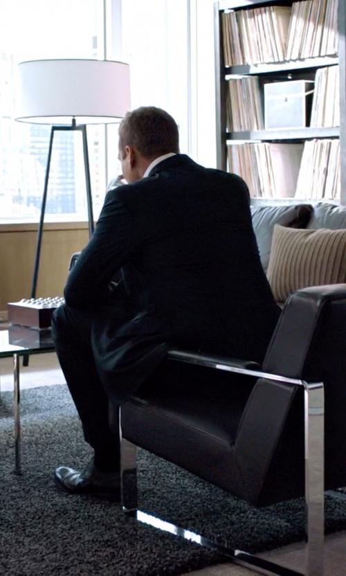 Gabriel Macht with Santoni 'Salem' Cap Toe Oxford Shoes in Suits
