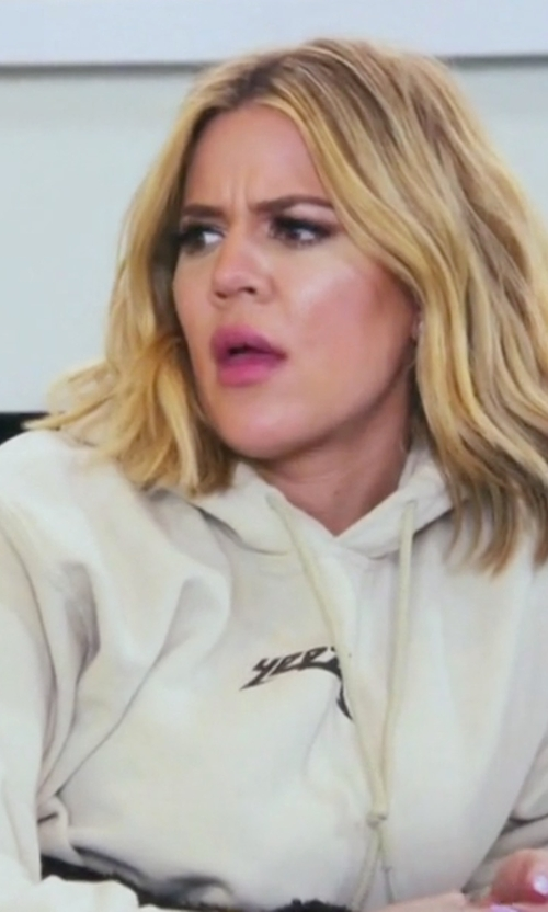 Khloe Kardashian with Yeezy Yeezus Beat The Devil Hoodie in Keeping Up With The Kardashians