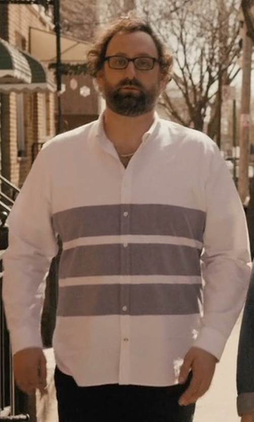 Eric Wareheim with Scotch & Soda Men's Striped Washed Woven Shirt in Master of None