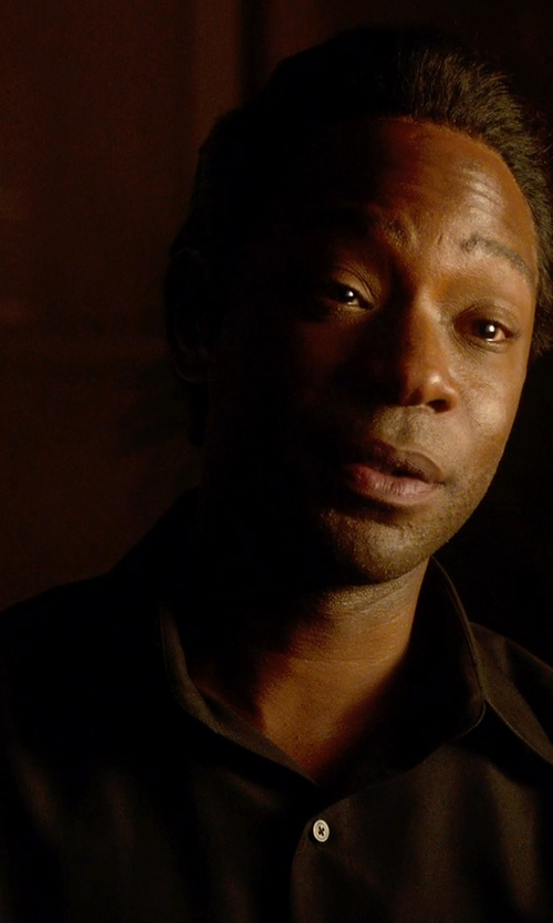Nelsan Ellis with Versace Trend Fit Dress Shirt in Get On Up