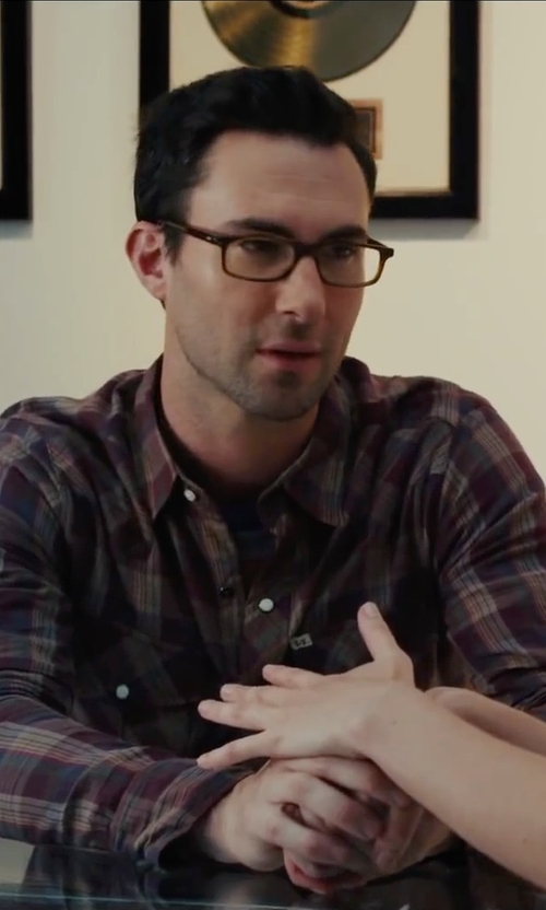 Adam Levine with Polo Ralph Lauren Plaid Button Down Shirt in Begin Again