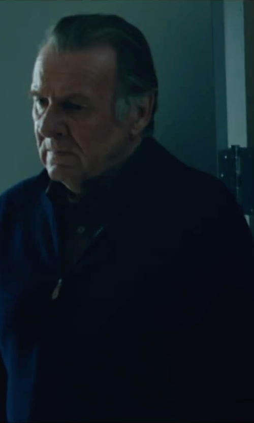 Tom Wilkinson with Michael Kors Half-Zip Cotton Pullover in The Choice