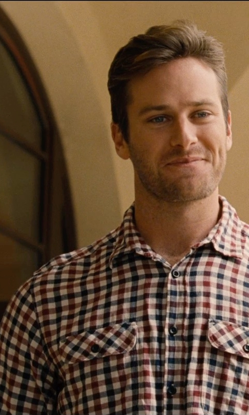Armie Hammer with Nordstrom Smartcare Regular Fit Check Sport Shirt in Entourage