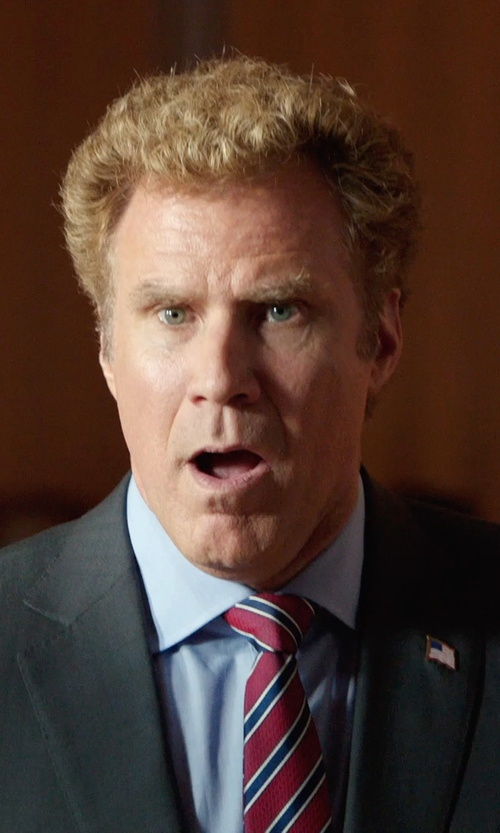 Will Ferrell with Army Lapel Pins Eagle with Flag Lapel Pin in Get Hard